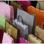 paper carrier bags in many colours